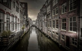 Picture Holland, canal, Dordrecht