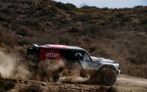 Picture earth, hills, Ford, dust, side view, the ground, 2020, 2019, Bronco R Race Prototype