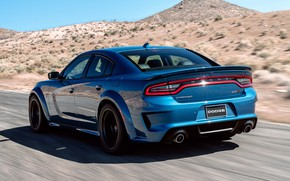 Picture Road, Speed, Dodge, Charger, Hellcat, SRT, 2020, Dodge Charger SRT, Hellcat widebody