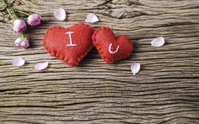 Picture love, flowers, heart, red, love, vintage, heart, wood, pink, flowers, beautiful, romantic