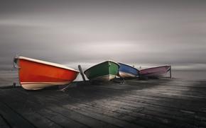 Picture shore, color, boats