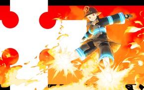 Picture fire, fire, 1214narumi, Enen no Shouboutai, Kusakabe Shinra