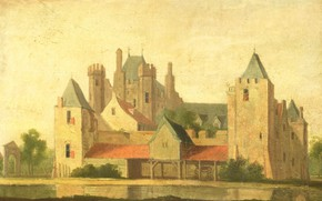 Picture oil, picture, canvas, House in Purmerend, 1799, неизвестный художник