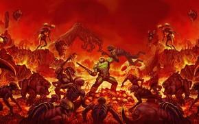 Picture Bethesda Softworks, id Software, Doomguy, DOOM Eternal, Hangman Rock