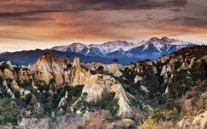 Picture rocks, France, New Aquitaine, Bort-Les-Orgues