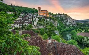 Picture castle, France, Occitane, долина реки Ло