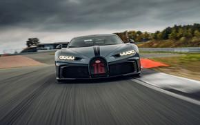 Picture Bugatti, front view, track, Chiron, 2020, Chiron Pur Sport