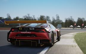Picture Lamborghini, GT3, racing track, EVO, PRO, Huracan, Hurricane, ESports, kaspersky