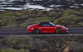 Picture red, speed, 911, Porsche, side, Speedster, 991, 2019, 991.2