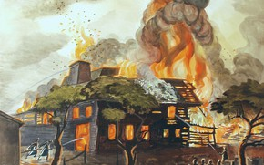 Picture 1929, Charles Ephraim Burchfield, Pyramid of Fire