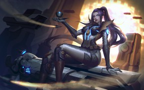 Picture Girl, Figure, The game, Armor, Costume, Armor, Games, Sexy, Digital Art, Figure, League of Legends, …
