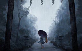 Picture loneliness, the shower, tatara kogas the, under the umbrella, project East, dark place, fog in …