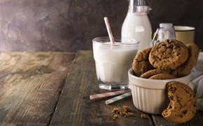Picture milk, cookies, chocolate