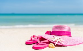 Picture sand, beach, stay, star, hat, shell, summer, beach, vacation, sand, marine, slates, vacation, starfish, seashells