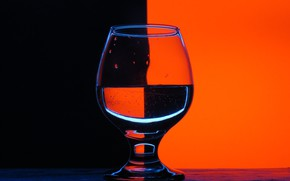 Picture red, glass, black