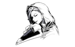 Picture minimalism, beak, mask, hood, My Hero Academia, Boku No Hero Academy, My Hero Academy, Kurono …