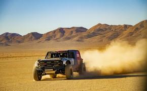 Picture mountains, Ford, dust, plain, 2019, Bronco R Race Prototype