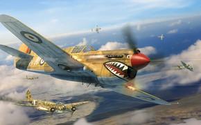 Picture Curtiss P-40, Junkers Ju 88, Antonis (rOEN911) Karidis, симулятор военной авиации, Il2 Sturmovik - Desert …