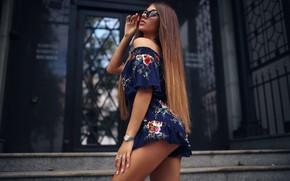 Wallpaper ass, Girl, figure, glasses, legs, Daria Kudelko