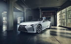 Picture white, Lexus, window, convertible, 2019, LC Convertible Concept