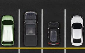 Picture parking, vehicles, pavement