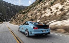 Picture speed, Mustang, Ford, rear view, Mustang GT, Roush, 2019, Performance Stage 3
