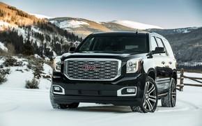 Picture 2018, GMC, in the snow, SUV, Denali, Yukon