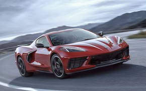 Picture Road, Corvette, Chevrolet, Speed, Turn, Stingray, 2020, Chevrolet Corvette ( C8 ) Stingray
