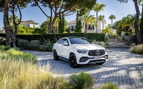 Picture auto, the sun, palm trees, Mercedes-Benz, mansion, AMG, GLE