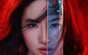 Picture look, girl, sword, Mulan, Mulan, Mulan (2020)