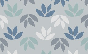 Picture leaves, grey, background, pattern, texture