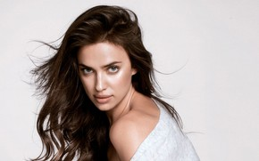 Picture look, pose, model, makeup, hairstyle, Irina Sheik, Irina Shayk, hair, actress, Irina Shayk