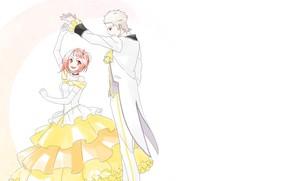 Picture romance, dance, art, two, Shingeki no Bahamut, Shingeki no Bahamut-Virgin Sou