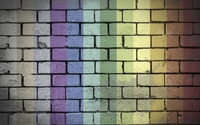 Picture colorful, rainbow, wall, bricks, textures, 4k ultra hd background