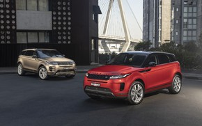 Picture auto, the city, house, Land Rover, Range Rover, Evoque, crossover