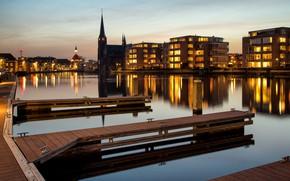 Picture lights, the evening, Netherlands, Holland, Leidschendam