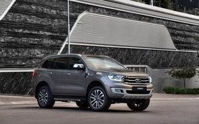 Picture Ford, SUV, the wall, Everest, Limited, 4WD, 2019