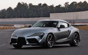 Picture grey, coupe, track, Toyota, Supra, the fifth generation, mk5, double, 2019, GR Above, A90, Gazoo …