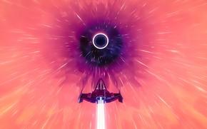 Picture space, fantasy, science fiction, sci-fi, digital art, artwork, fantasy art, Spaceship, futuristic, wormhole, warp