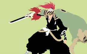 Picture weapons, guy, Bleach, Bleach, Renji