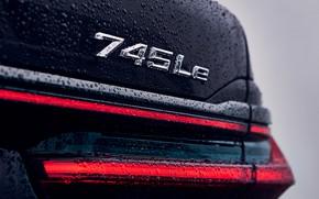 Picture drops, headlight, BMW, sedan, feed, trunk lid, G12, 2020, 7, 7-series, 2019, 745Le xDrive
