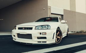 Picture GTR, Japan, Nissan, Classic, White, R34