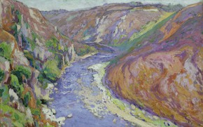 Picture landscape, river, picture, VALLEY, 1916, Paul Madeline, Paul Madeline