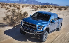 Picture Ford, Desert, Speed, The hood, Raptor, F-150, 2019, Ford F-150 Raptor