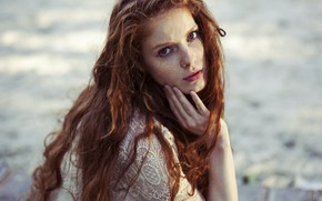 Picture look, girl, face, hair, Lara Wernet