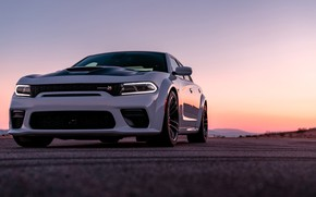 Picture sunset, the evening, Dodge, Charger, Widebody, Scat Pack, 2020