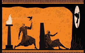Picture fun, shadows, greeks, human figures