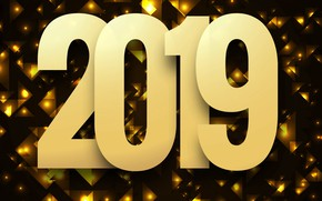 Picture background, gold, New Year, figures, golden, background, bokeh, bokeh, New Year, Happy, sparkle, 2019