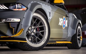 Picture Ford, Headlight, Disk, Wheel, 2018, Mustang GT, Eagle Squadron, Canary