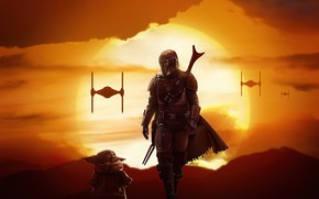 Picture the series, Mandalore, The Mandalorian